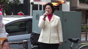 抜弁天交差点で街頭演説させていただきました。