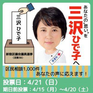 三沢ひで子☀選挙最終日!